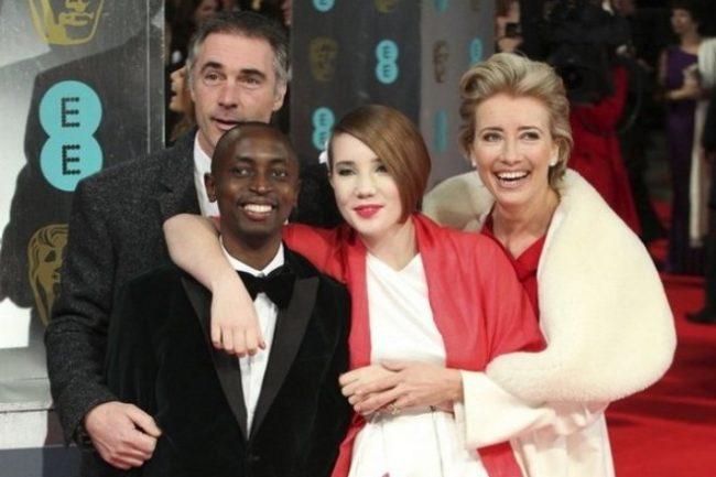 Эмма Томпсон с семьей