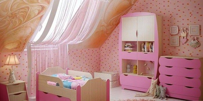 Детский спальный гарнитур Вырастайка
