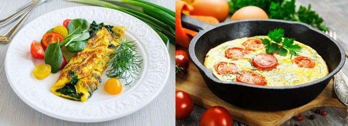 Омлет с помидорами и болгарским перцем