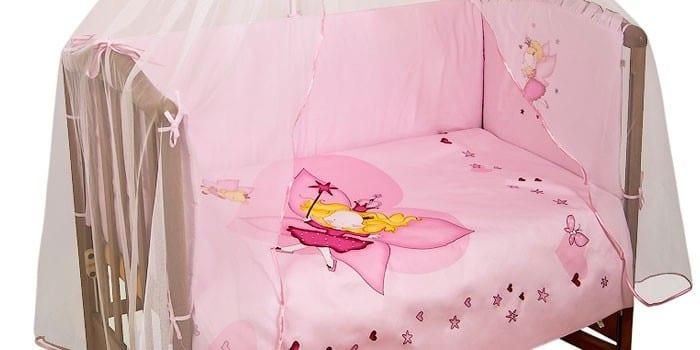 Набор для девочки с балдахином Сонный гномик