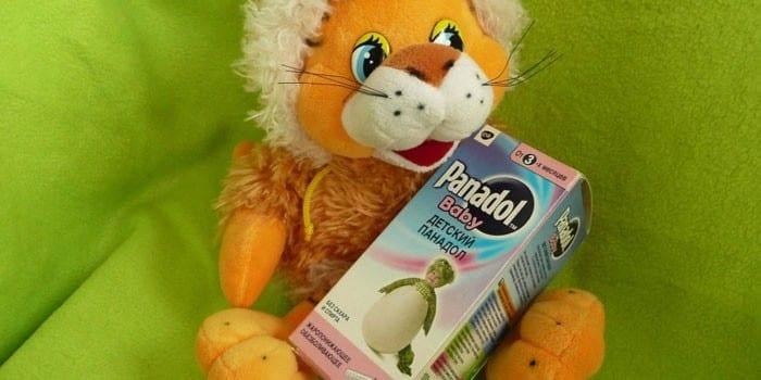 Игрушка и детский Панадол в упаковке