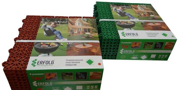 Пластиковые блоки Erfolg Home & Garden зеленое (76003)