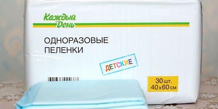 Упаковка одноразовых пеленок Каждый день