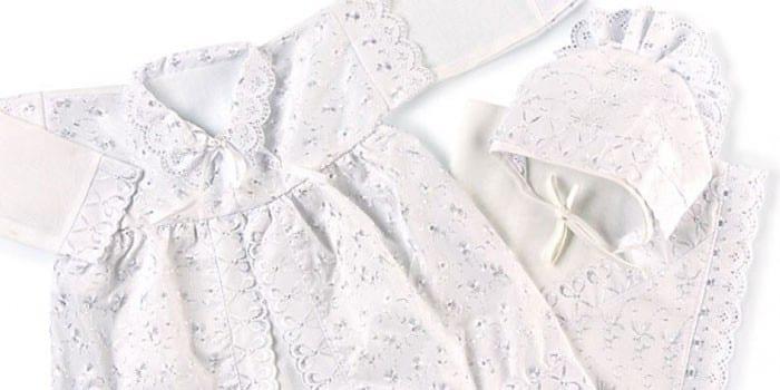 Кружевное крестильное платье Осьминожка