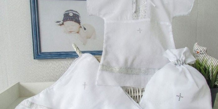 Крестильная одежда для малыша Сдобина