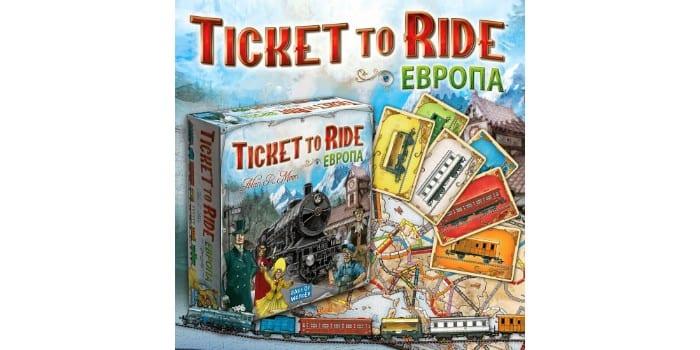 Интересная игра для всей семьи Ticket to Ride: Европа