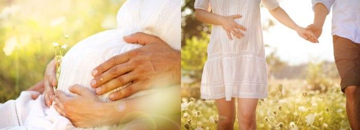 Беременная девушка и мужчина
