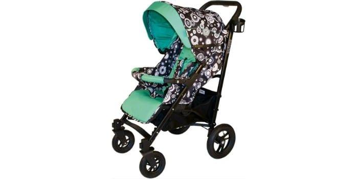 прогулочная коляска с надувными колесами Babyhit Drive Beige Circles