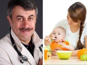 Правила прикорма по Комаровскому: первые продукты для ребенка
