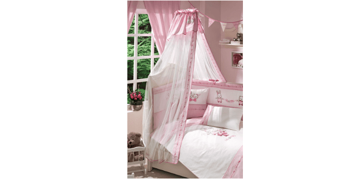 Комплект детского постельного белья с балдахином и бортиками Funnababy Lily Milly