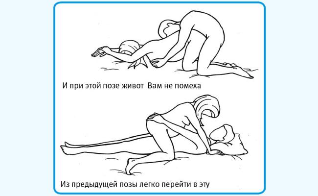 Безопасные позы для близости при беременности