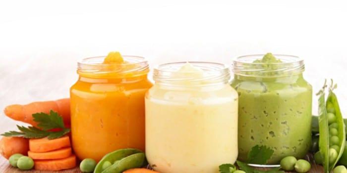 Детское питание в баночках и овощи