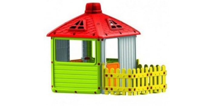 Пластиковый дом с заборчиком Dolu Городской дом