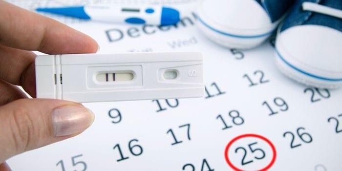 Тест на беременность и календарь