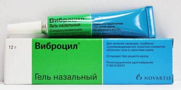 Гель назальный Виброцил в упаковке