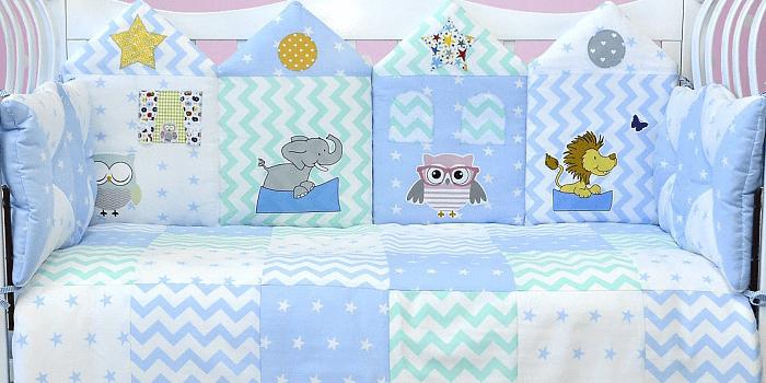 Комплект постельного белья для новорожденного из 7 предметов Лапуляндия