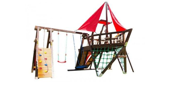 Игровой комплекс из дерева Хижина Каравелла