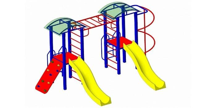 Детский игровой комплекс с двумя горками Пионер Мечта