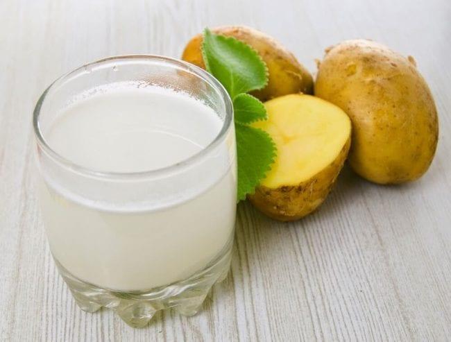 Сок картофеля с водой от запора