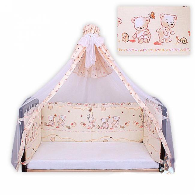 Бортики в кроватку для новорожденного Мотылек