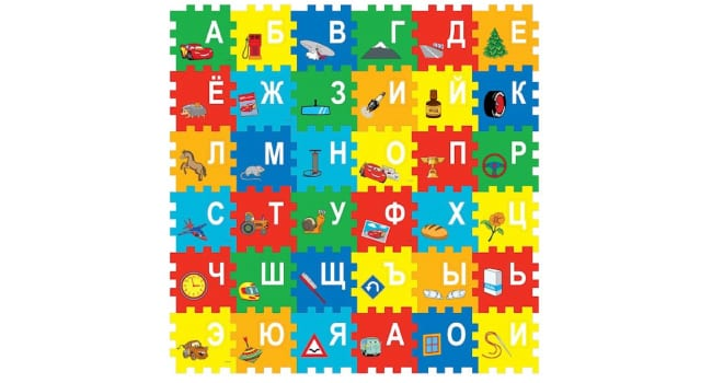 Пазл-коврик Алфавит Тачки