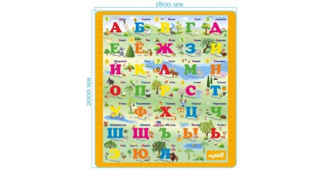 Развивающий коврик Mambobaby Русский Алфавит