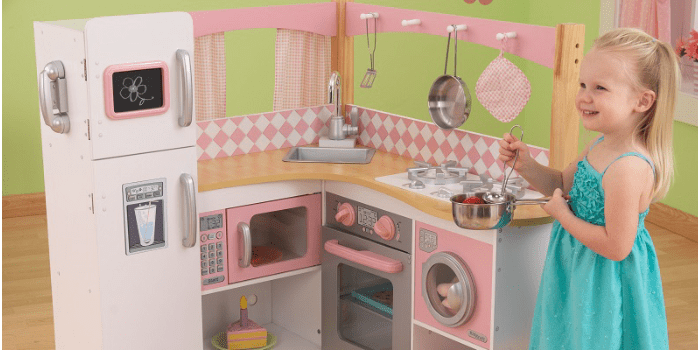 Большой игрушечный кухонный угловой гарнитур Изысканный уголок KidKraft