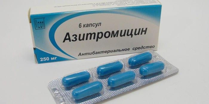 Капсулы Азитромицин в упаковке