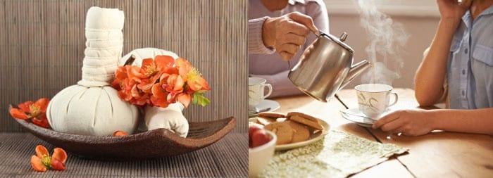 Компрессы и горячий чай