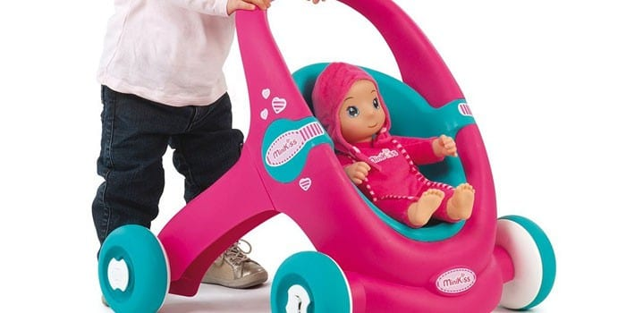 Коляска-ходунки для девочек Smoby MiniKiss