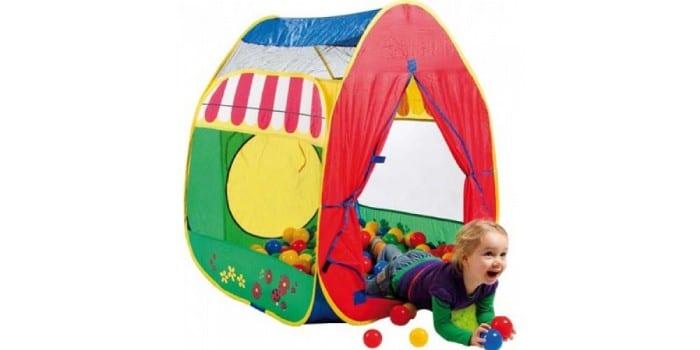 Текстильная детская палатка с шариками Calida 639
