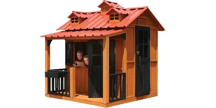 Большой домик с террасой для детских игр Гномик