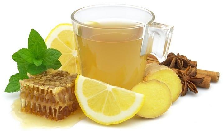 Чай с лимоном, имбирем, медом и корицей
