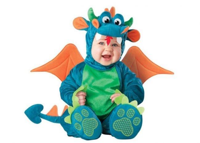 Костюм дракончика для новорожденного