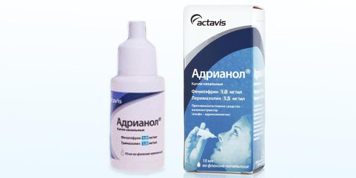 Сосудосуживающий препарат Адрианол