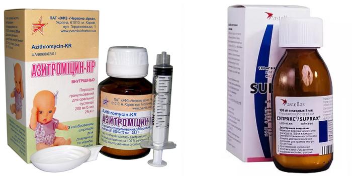 Суспензии Азитромицин и Супракс