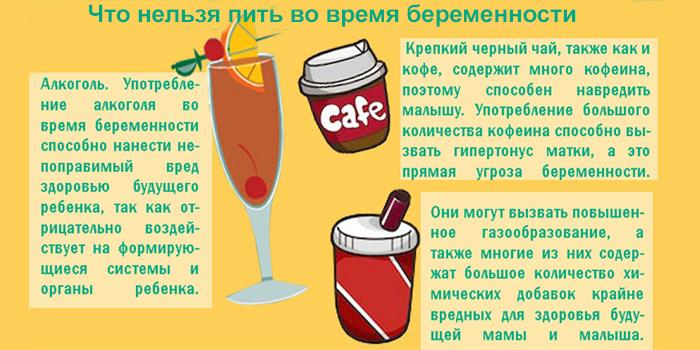 Что нельзя пить во время беременности