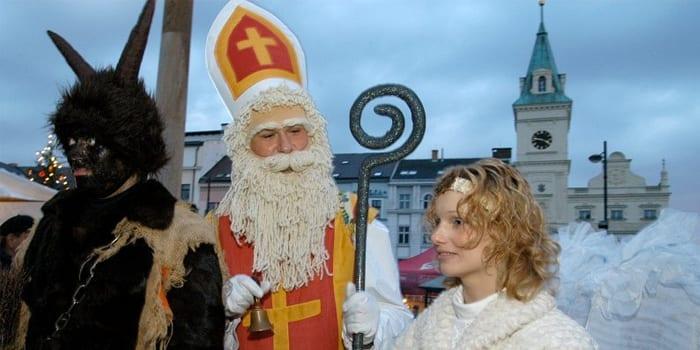 Святой Николай. черт и ангел
