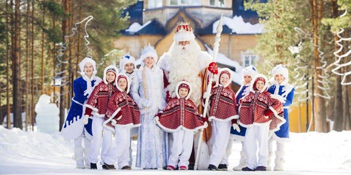 Дед Мороз с помощниками