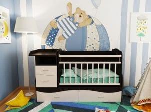 Как правильно выбрать кроватку с пеленальным столиком для новорожденного