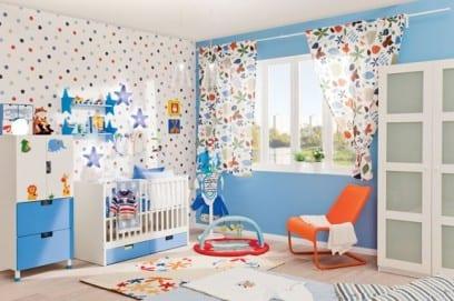 Детские обои для комнаты мальчика и девочки