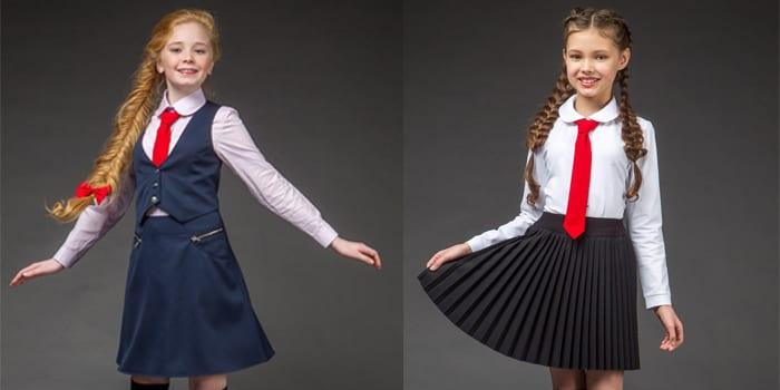 Девочки в школьной форме
