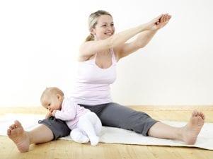 Как убрать жир с живота после родов диетой и упражнениями