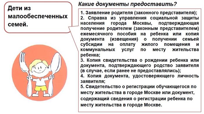 Пакет документов для малообеспеченных семей в Москве
