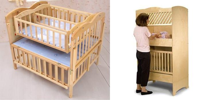 Двухъярусная кроватка для двойни