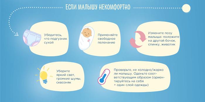Что делать, если малышу некомфортно