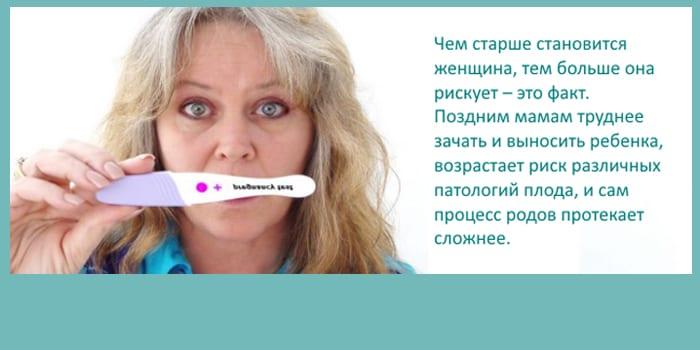 Риски возрастной беременности