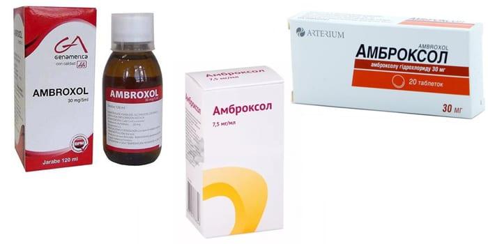 Формы выпуска препарата Амброксол