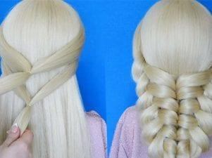 Техника плетения французской косы с резинками