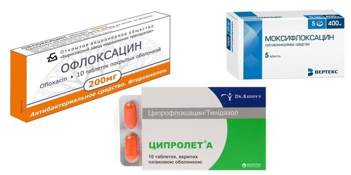 Препараты группы фторхинолоны